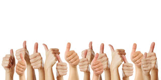 many-thumbs-up-against-white-background-42051755